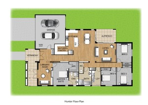 The Hunter Panel Homes 3D Plan