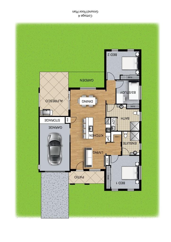 Panel Homes Pre-cast Concrete Design - Cottage Series 4