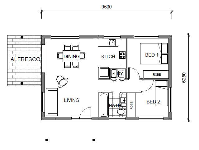 Panel Homes Pre-cast Concrete Design - Granny Flat 3