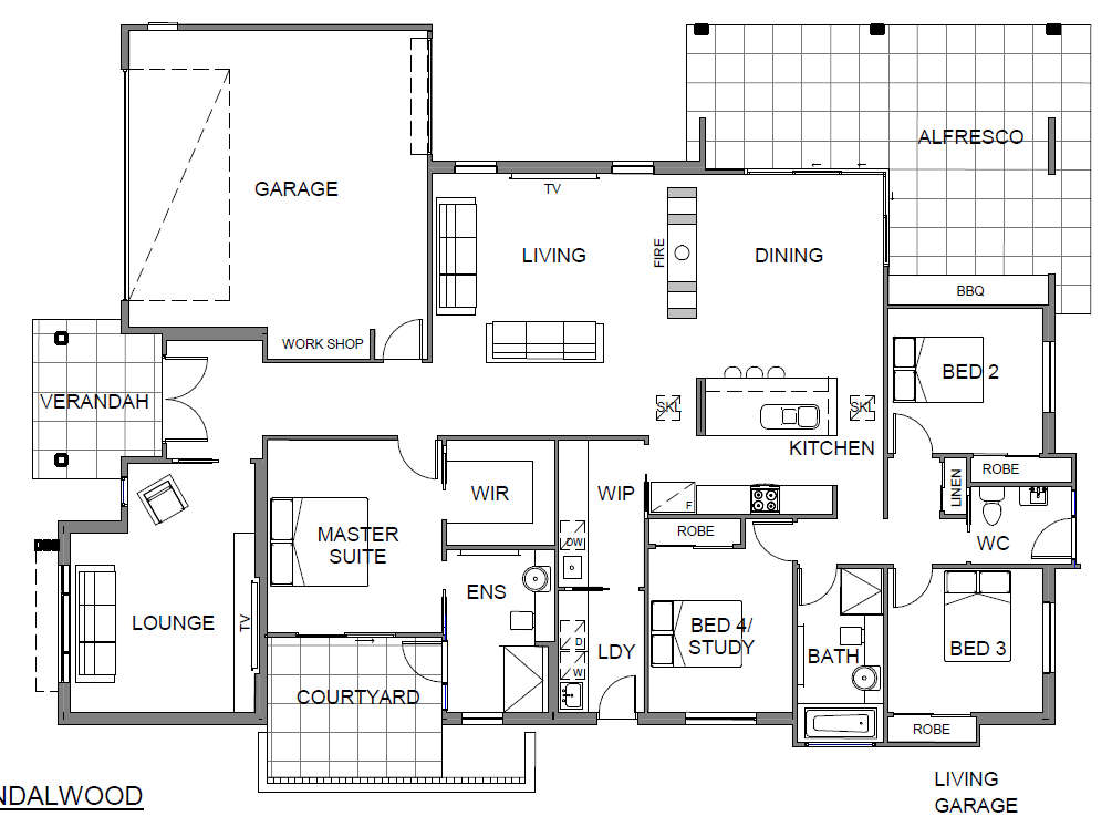 Panel Homes Pre-cast Concrete Design - Sandalwood